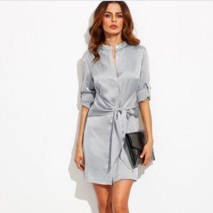 Dresses & Skirts - SALE Beautiful pale grey dress - tie waist